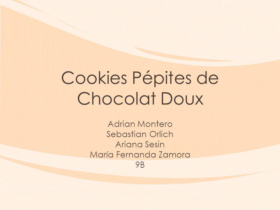 Cookies Pépites de Chocolat Doux Adrian Montero Sebastian Orlich Ariana Sesin María Fernanda Zamora 9B
