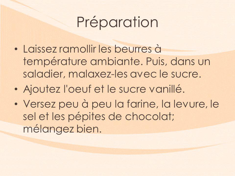 Préparation Laissez ramollir les beurres à température ambiante.