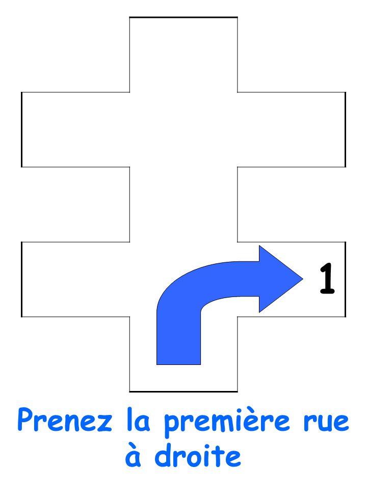 1 Prenez la première rue à droite
