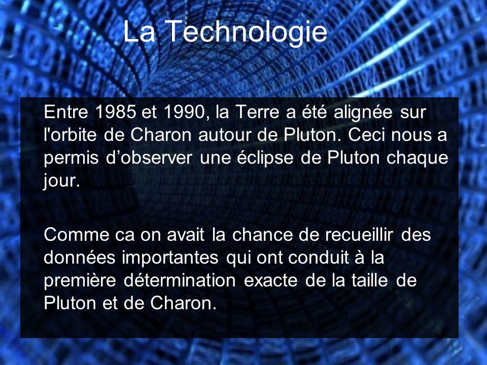La Technologie Entre 1985 et 1990, la Terre a été alignée sur l'orbite de Charon autour de Pluton. Ceci nous a permis d'observer une éclipse de Pluton