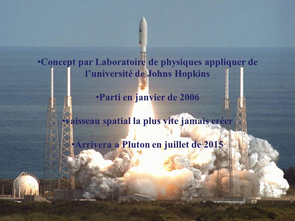 Concept par Laboratoire de physiques appliquer de l'université de Johns Hopkins Parti en janvier de 2006 vaisseau spatial la plus vite jamais créer Ar