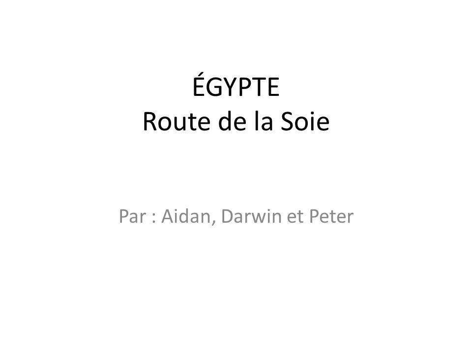 ÉGYPTE Route de la Soie Par : Aidan, Darwin et Peter