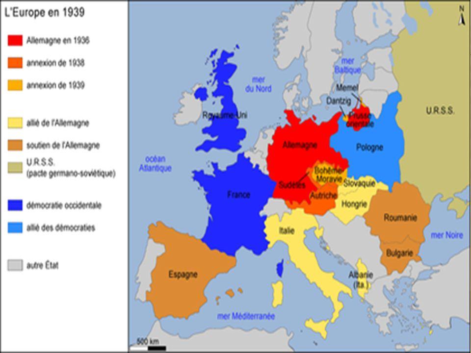 L'Angleterre craint une guerre si elle mobilise l'armée  Outil diplomatique anglais de Neville Chamberlain – faire des concession dans le but de guarantir la paix  Mackenzie King a fait la même chose au Canada – tout le monde veut éviter la guerre!