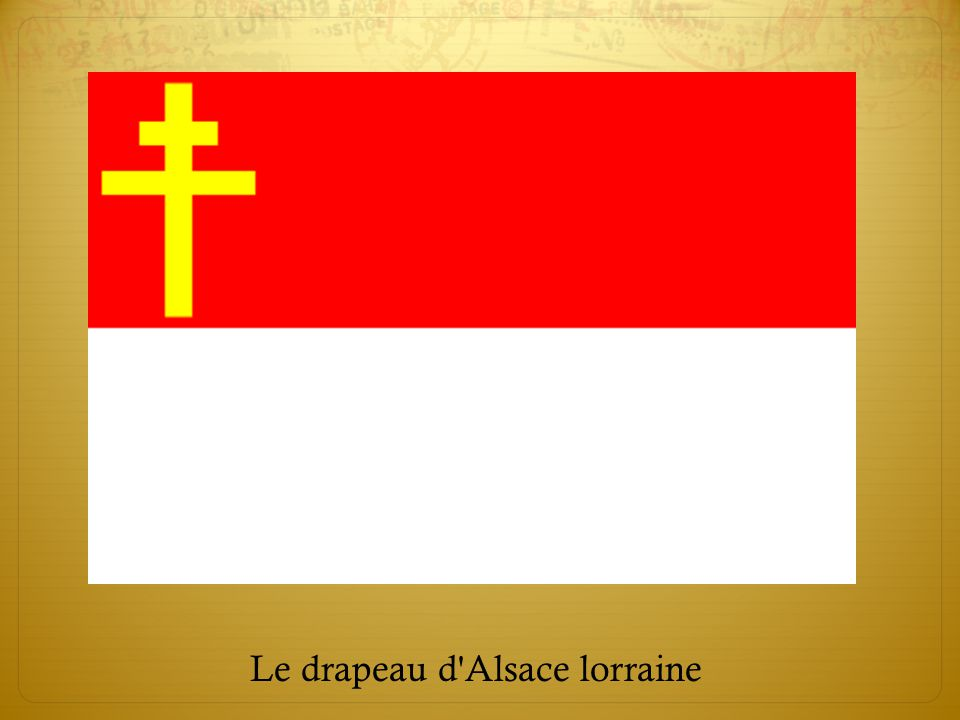 Le drapeau d'Alsace lorraine