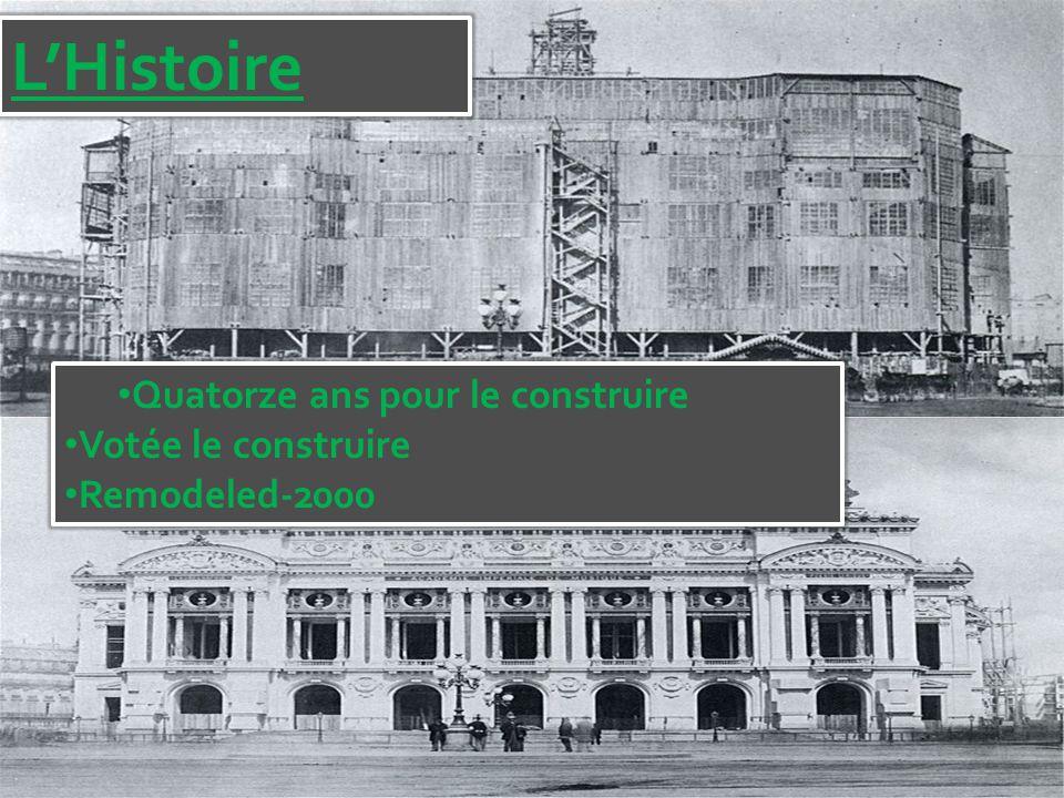 L'Histoire Quatorze ans pour le construire Votée le construire Remodeled-2000