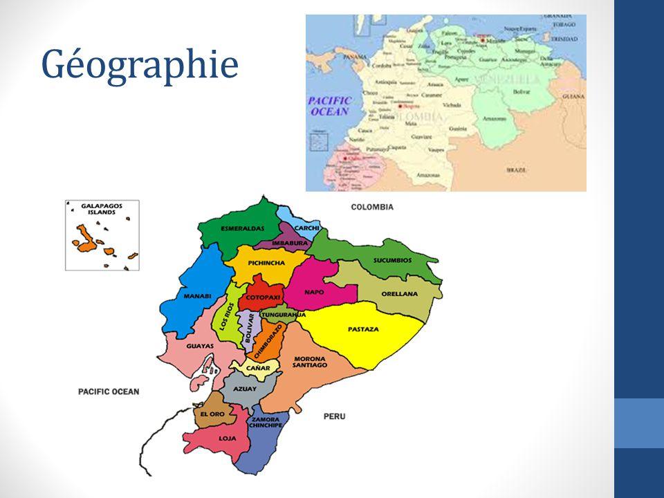 L Equateur est au nord et à l'ouest du Pérou et au sud de la Colombie L'Equateur est aussi à l'est de l'océan pacifique.