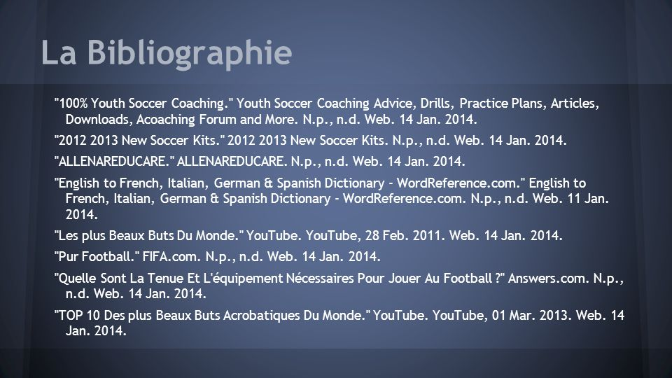 La Bibliographie 100% Youth Soccer Coaching. Youth Soccer Coaching Advice, Drills, Practice Plans, Articles, Downloads, Acoaching Forum and More.