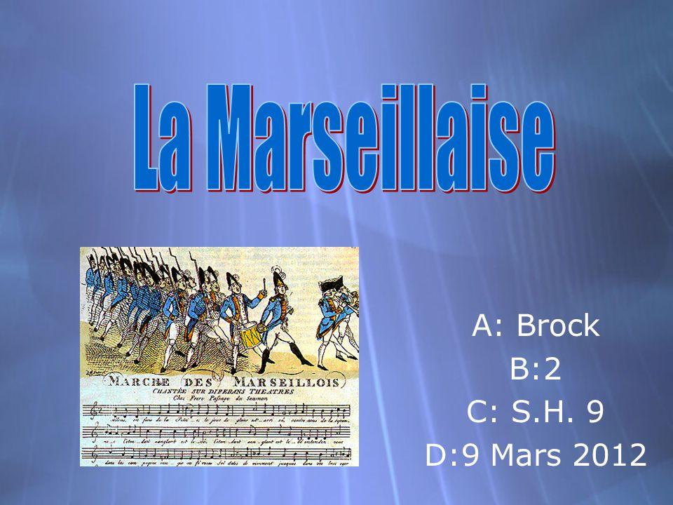 A: Brock B:2 C: S.H. 9 D:9 Mars 2012 A: Brock B:2 C: S.H. 9 D:9 Mars 2012