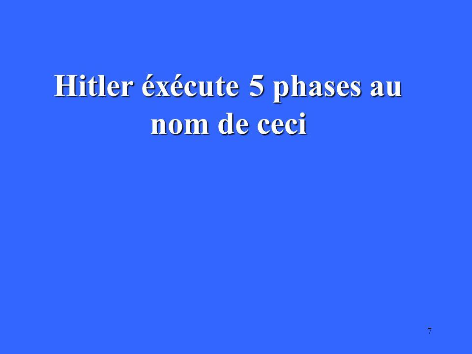 7 Hitler éxécute 5 phases au nom de ceci