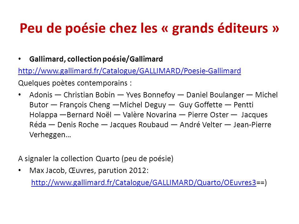 Actes Sud La poésie est présente dans plusieurs collections dont Actes Sud junior mais surtout très présente depuis le rachat des éditions Sindbad en 1995.