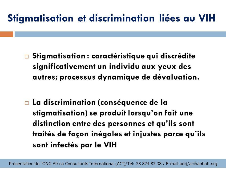 Comment se manifestent la stigmatisation et la discrimination.