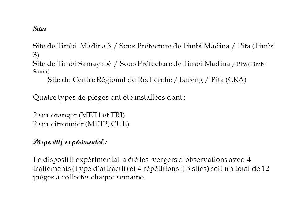 Sites Site de Timbi Madina 3 / Sous Préfecture de Timbi Madina / Pita (Timbi 3) Site de Timbi Samayabè / Sous Préfecture de Timbi Madina / Pita (Timbi