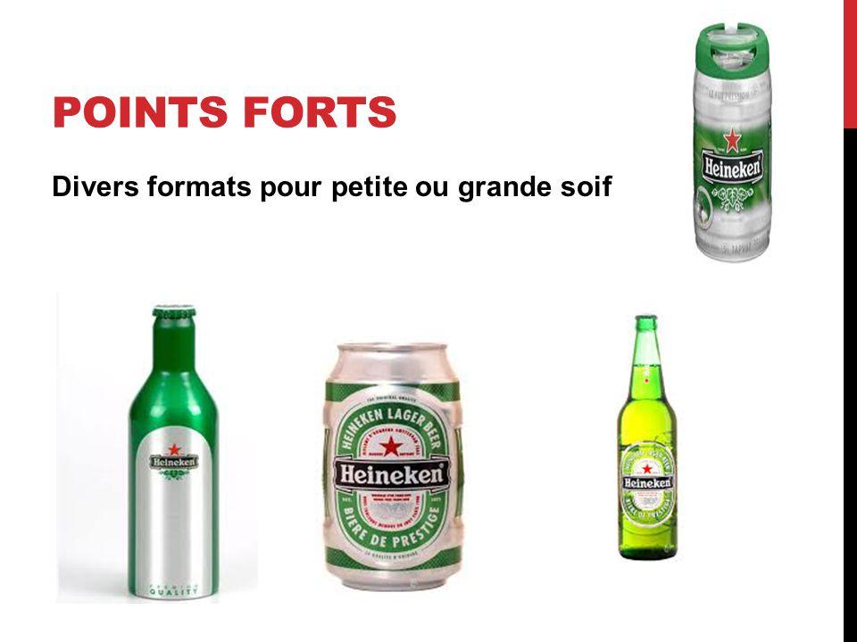 POINTS FORTS Divers formats pour petite ou grande soif