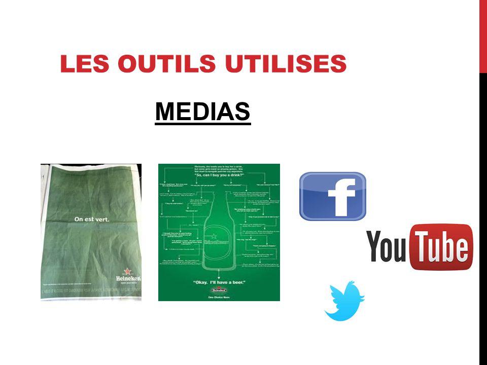 LES OUTILS UTILISES MEDIAS