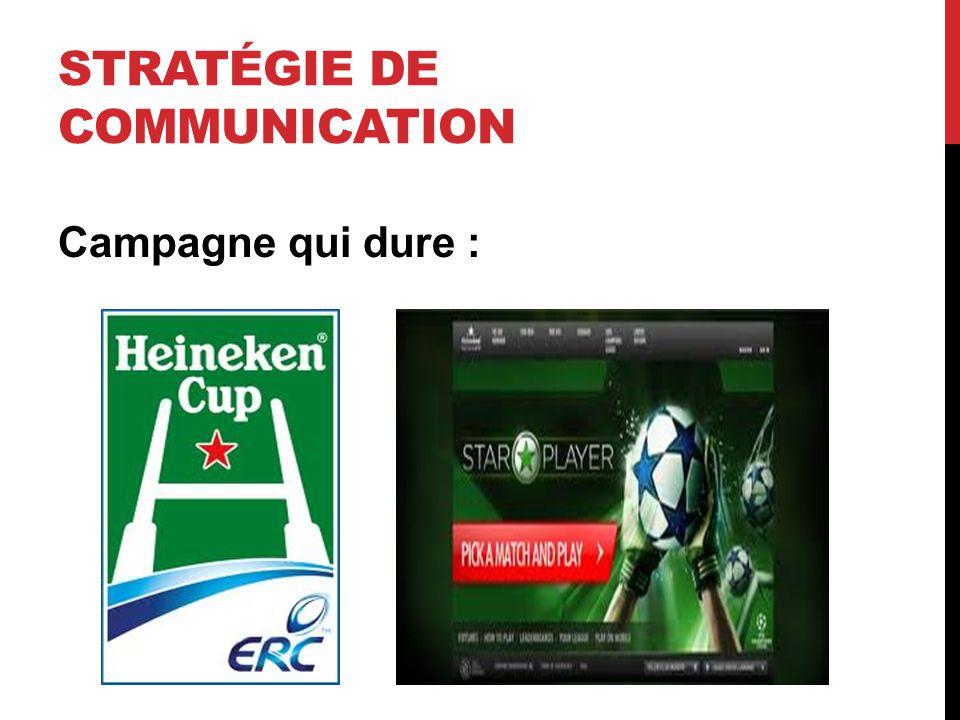 Campagne qui dure : STRATÉGIE DE COMMUNICATION