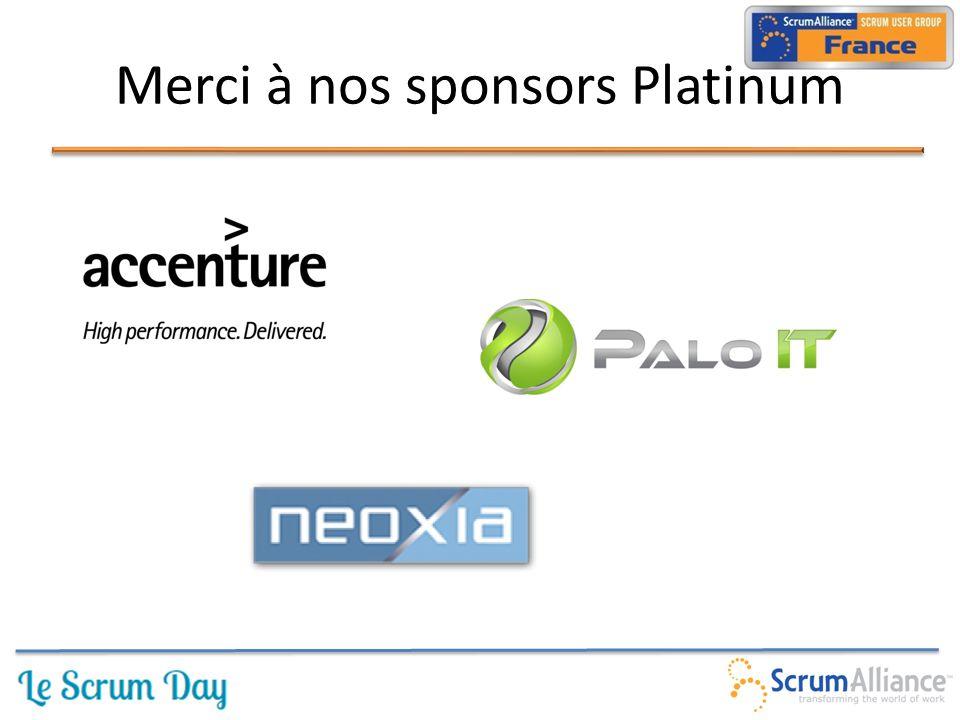 Merci à nos sponsors Platinum