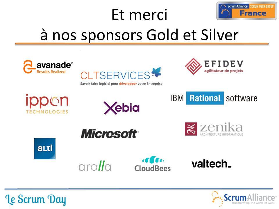 Et merci à nos sponsors Gold et Silver