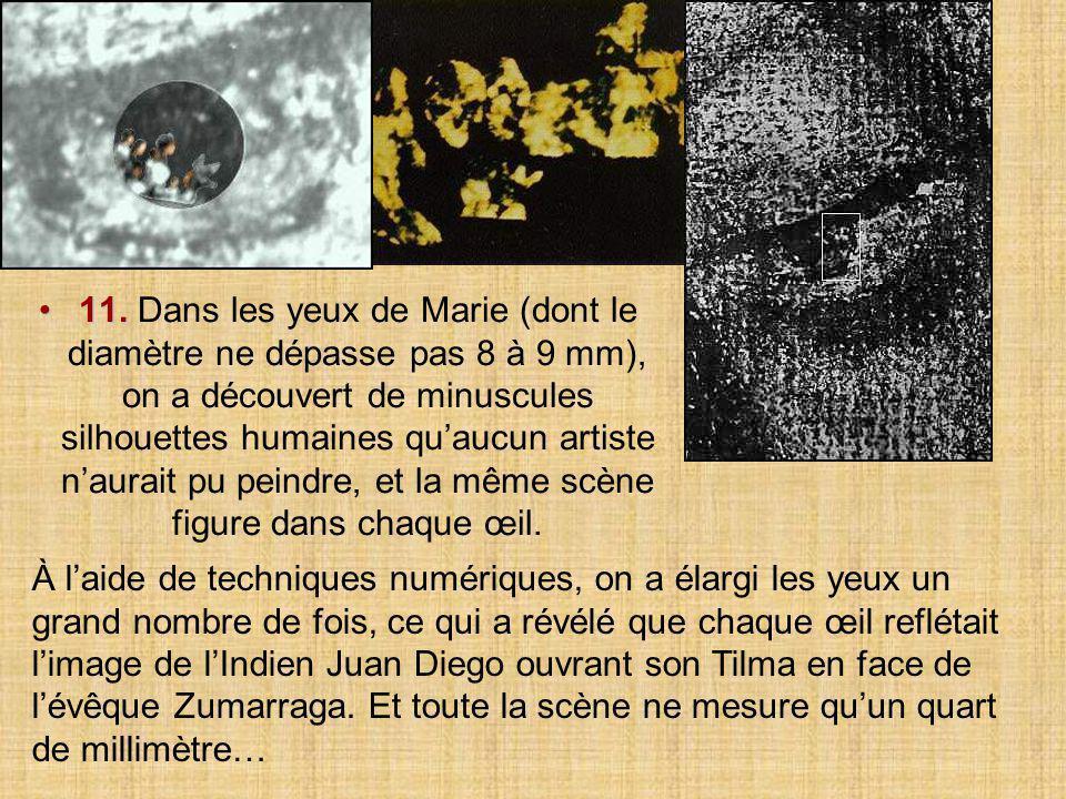 10.10. Des scientifiques ont constaté que les yeux de Marie présentaient les caractéristiques réfractives de l'œil humain.
