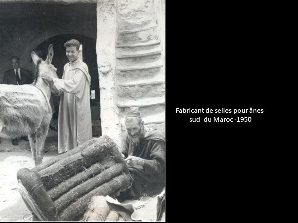 Fabricant de selles pour ânes sud du Maroc -1950