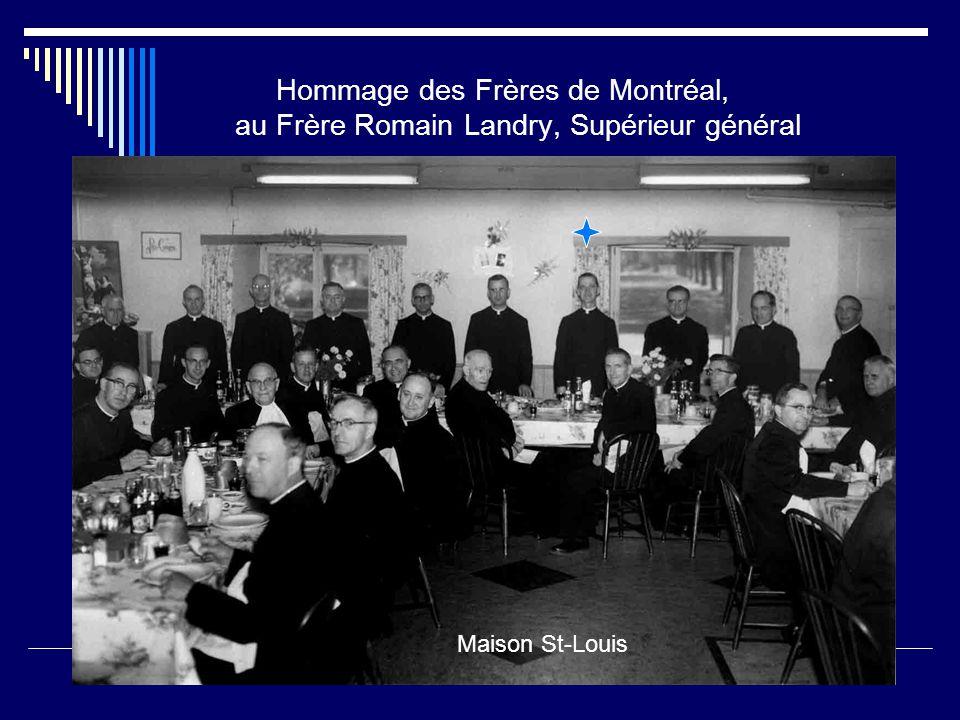 En 1965, ses compatriotes de l'Assomption rendent un hommage au Frère Romain Landry nouvellement élu Supérieur général