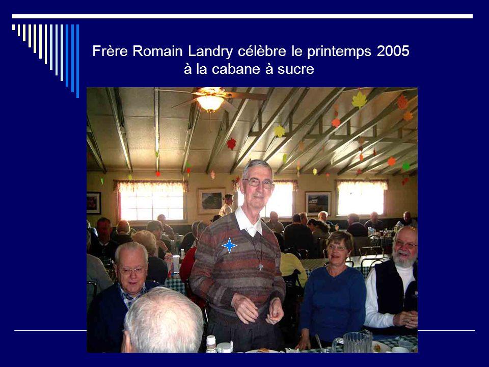 Frère Romain Landry à notre infirmerie Saint-Nicolas, le 24 décembre 2005
