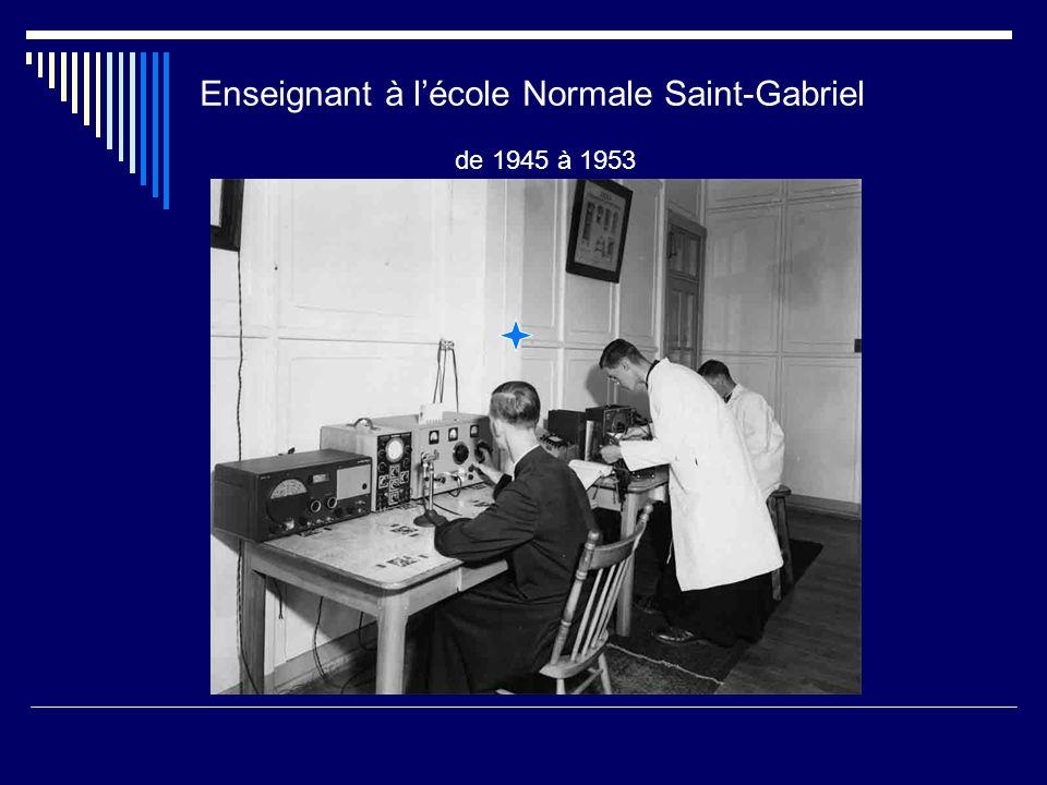 Université de Montréal Licence en pédagogie, 1943 Bacc. es Arts, 1944 Bacc. en pédagogie, 1946 Practical Radio Engineering Institute, Washington, U.S.