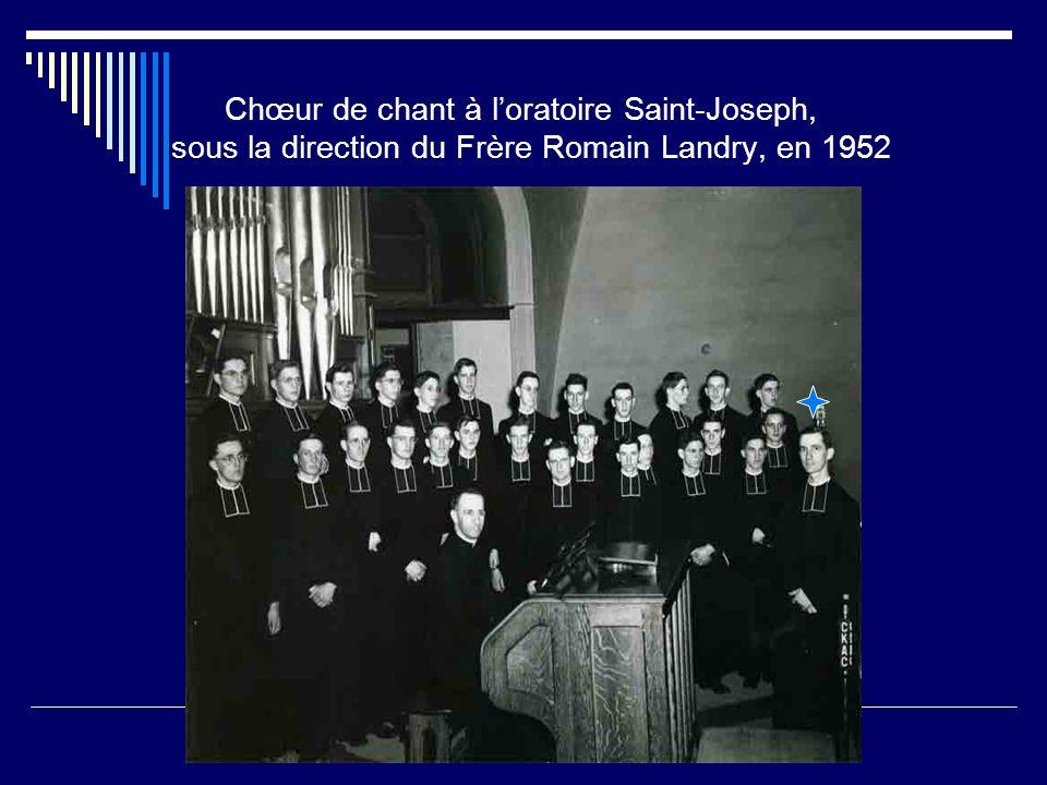 En 1951, pendant les vacances d'été, Frère Romain Landry donne des cours de perfectionnement, au Camp Marcel