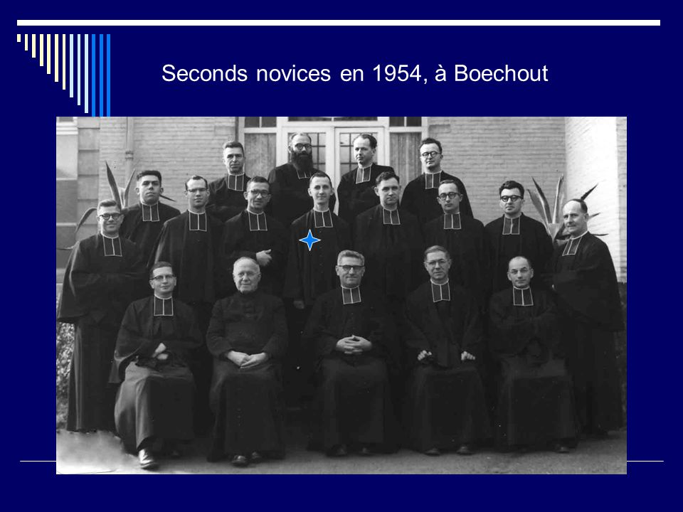 Seconds novices en 1954, à Boechout
