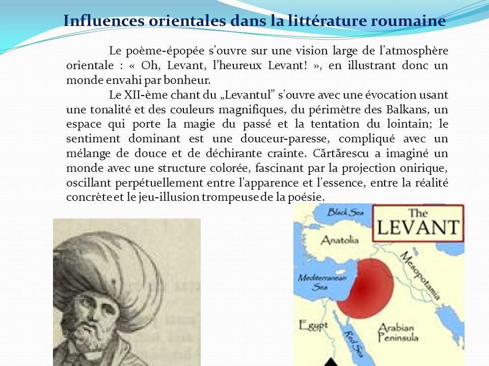 Le poème-épopée s'ouvre sur une vision large de l'atmosphère orientale : « Oh, Levant, l'heureux Levant! », en illustrant donc un monde envahi par bon
