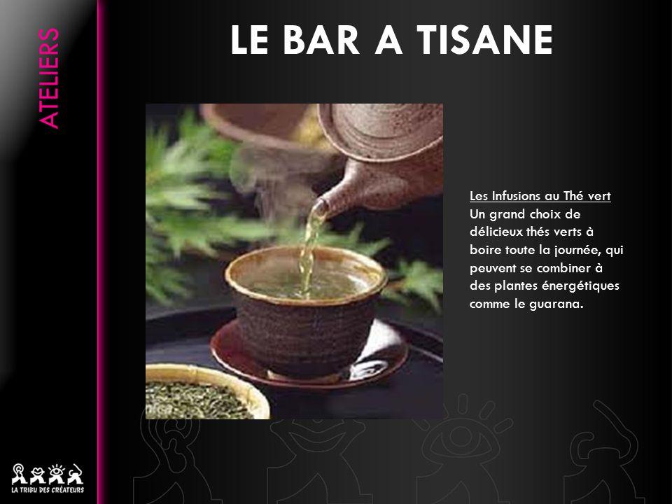 Les Infusions au Thé vert Un grand choix de délicieux thés verts à boire toute la journée, qui peuvent se combiner à des plantes énergétiques comme le