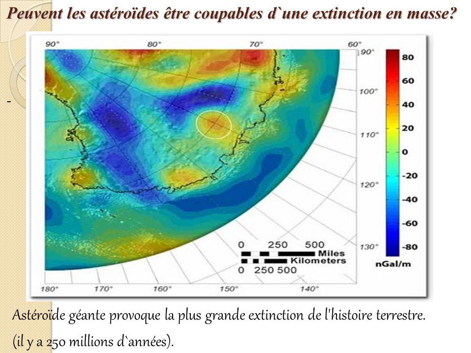 Peuvent les astéroïdes être coupables d`une extinction en masse.