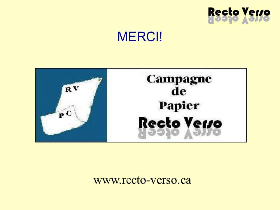 MERCI! www.recto-verso.ca