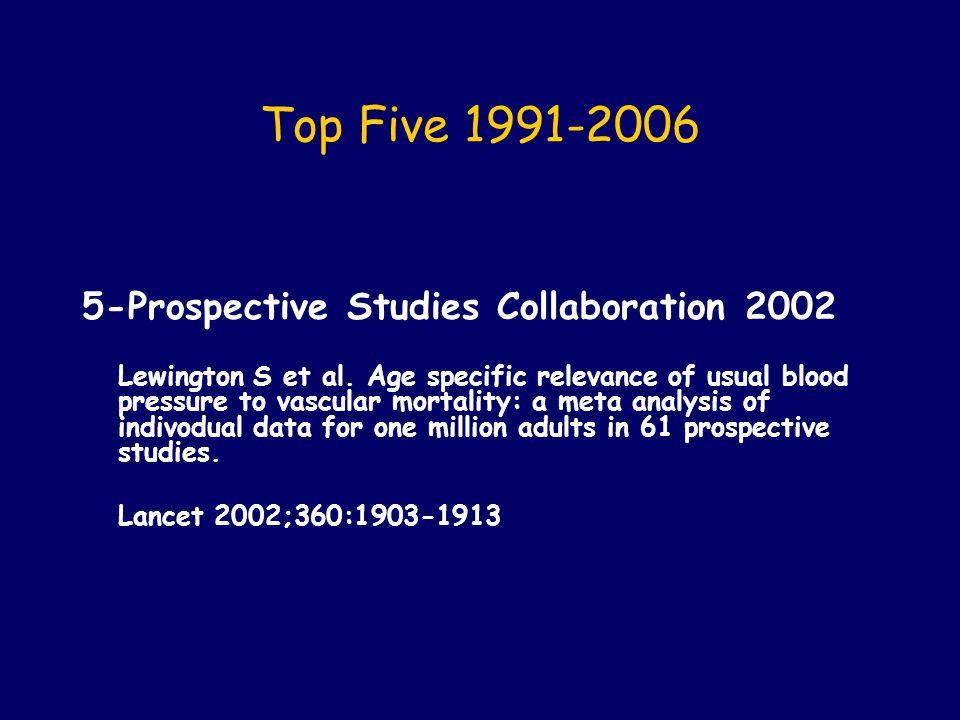 Mortalité par ACV et MCAS (n=122,716/ 958,074) Prospective Studies Collaboration.