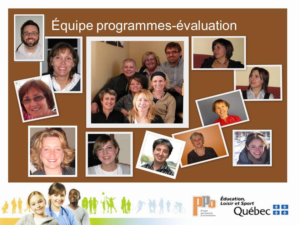 Équipe programmes-évaluation