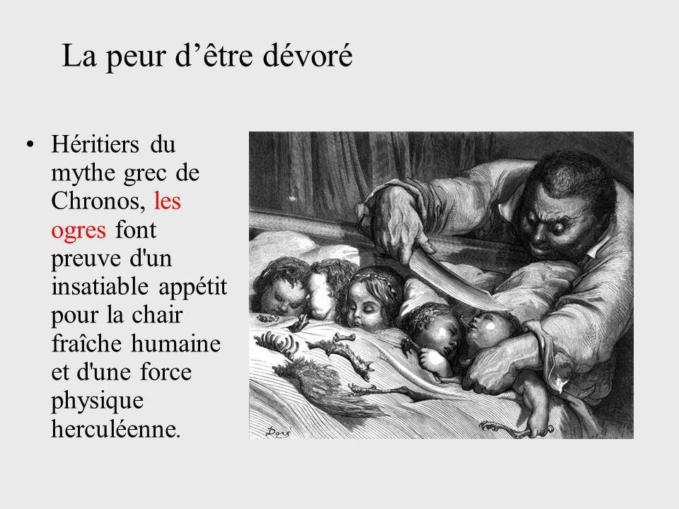 Héritiers du mythe grec de Chronos, les ogres font preuve d'un insatiable appétit pour la chair fraîche humaine et d'une force physique herculéenne. L