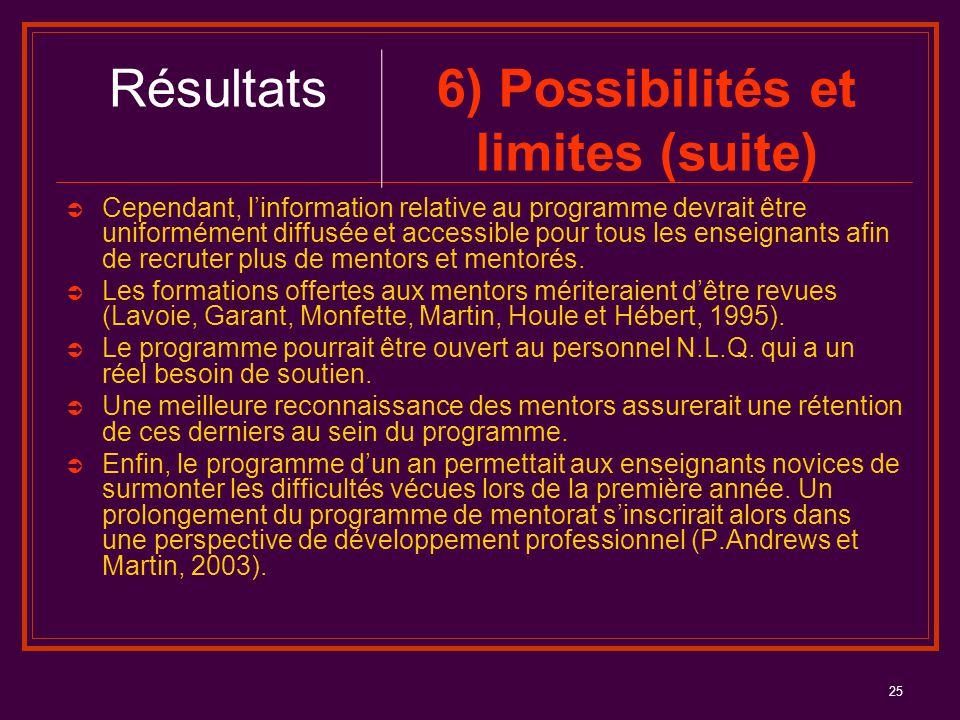 25  Cependant, l'information relative au programme devrait être uniformément diffusée et accessible pour tous les enseignants afin de recruter plus d