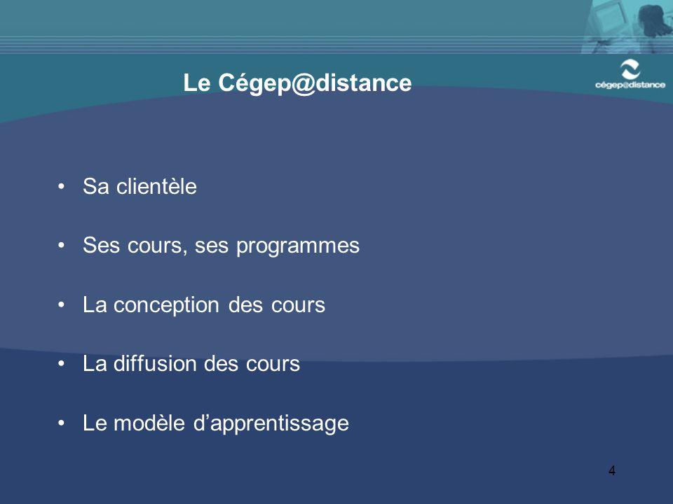 5 La problématique de l'abandon au Cégep@distance La non persévérance par rapport à l'échec L'isolement : une cause majeure de l'abandon