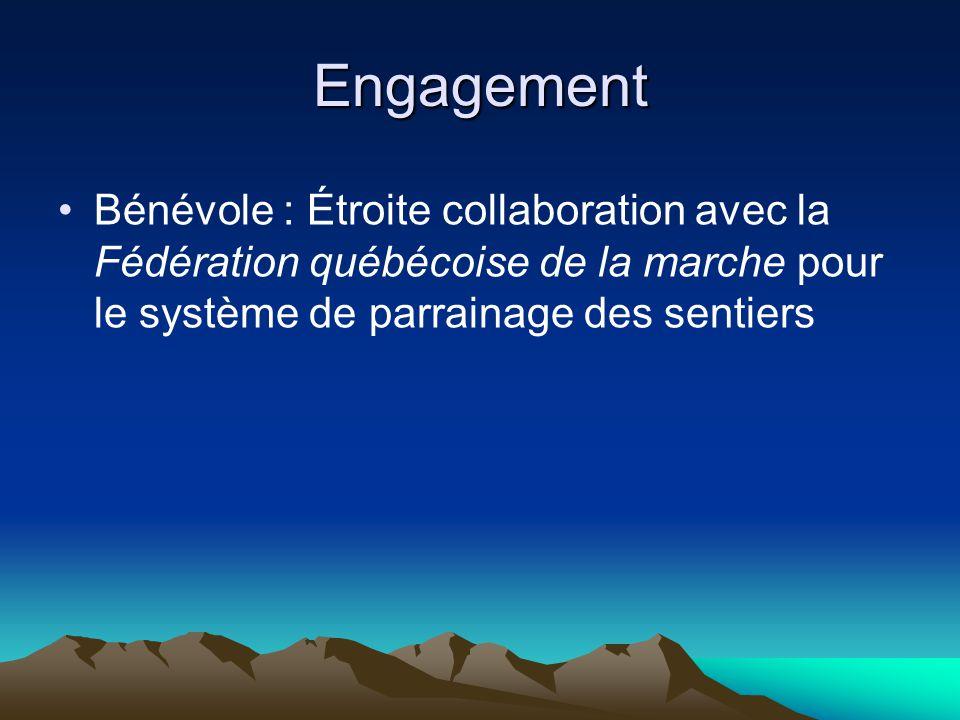 Engagement Bénévole : Étroite collaboration avec la Fédération québécoise de la marche pour le système de parrainage des sentiers