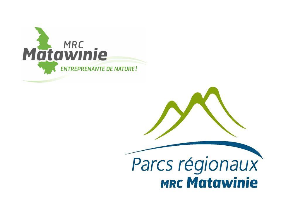 Mise en contexte MRC de Matawinie : La GRANDE NATURE ACCESSIBLE 6 parcs régionaux + Sentier national ( + de 120 km) Parc national du Mont-Tremblant Plusieurs réserves fauniques, ZEC, pourvoiries Beaucoup d'infrastructures de plein air PROXIMITÉ DU PLUS GRAND BASSIN DE POPULATION AU QUÉBEC
