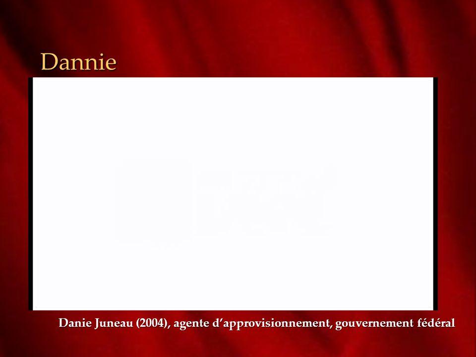 Dannie Danie Juneau (2004), agente d'approvisionnement, gouvernement fédéral