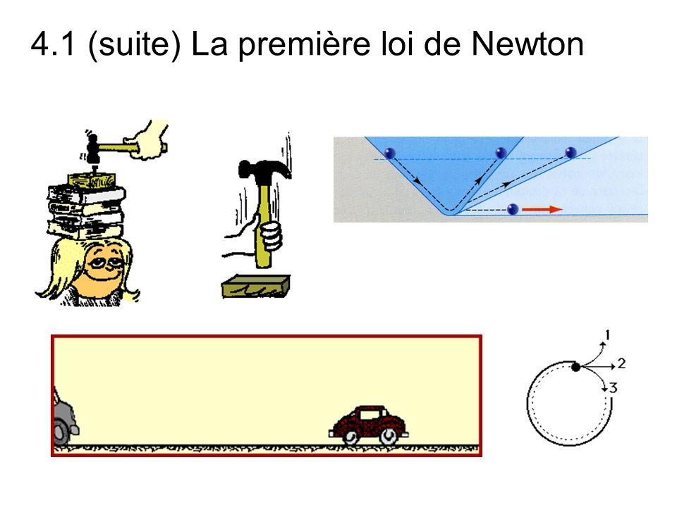 4.1 (suite) La première loi de Newton