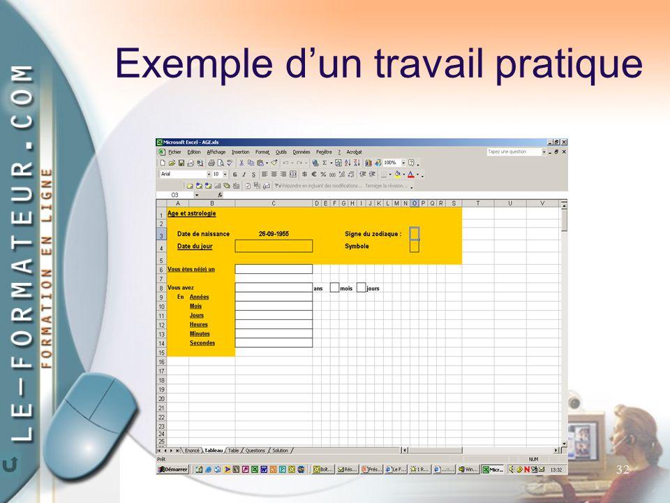 32 Exemple d'un travail pratique