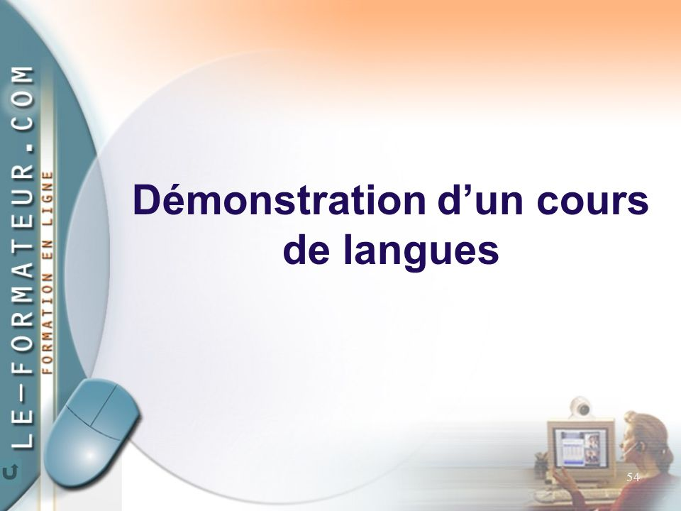 54 Démonstration d'un cours de langues