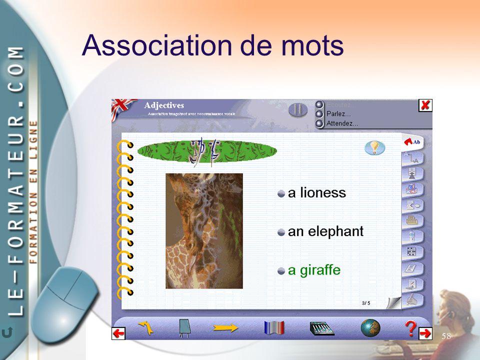 58 Association de mots