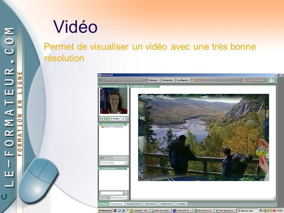 68 Vidéo Permet de visualiser un vidéo avec une très bonne résolution