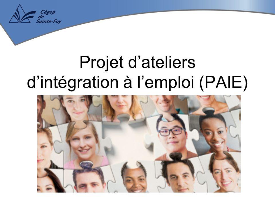 Projet d'ateliers d'intégration à l'emploi (PAIE)