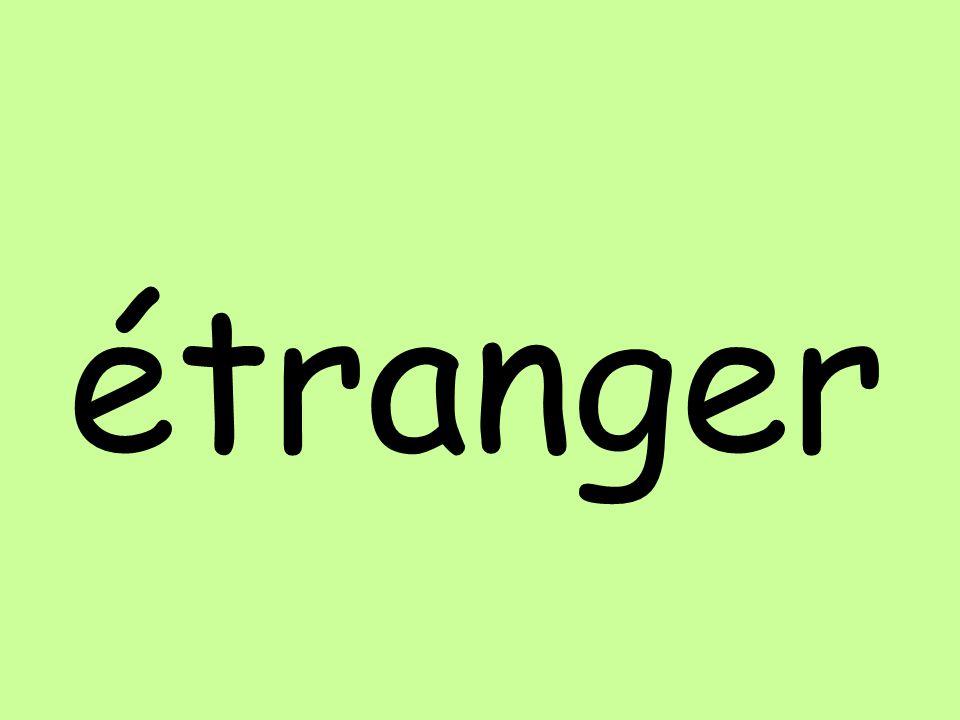 étranger