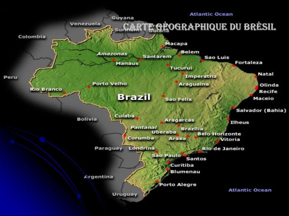 Carte géographique du Brésil