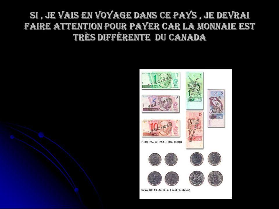 Si, je vais en voyage dans ce pays, je devrai faire attention pour payer car la monnaie est très différente du Canada