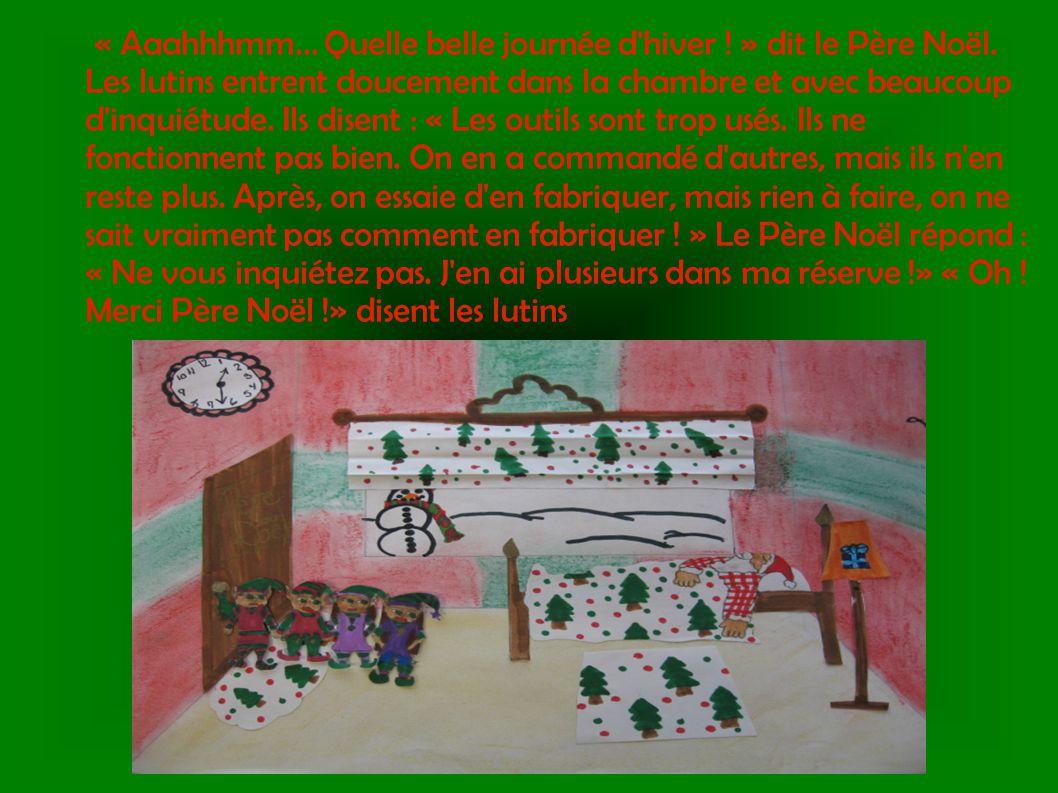 Les lutins sont vraiment heureux et peuvent continuer la fabrication de jouets dans la joie et la paix tout en pensant à la joyeuse fête de Noël qu ils vont vivre.